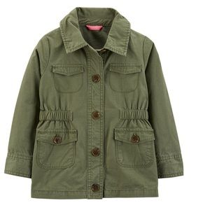 Carter's Toddler Girl Green Twill Trench Coat